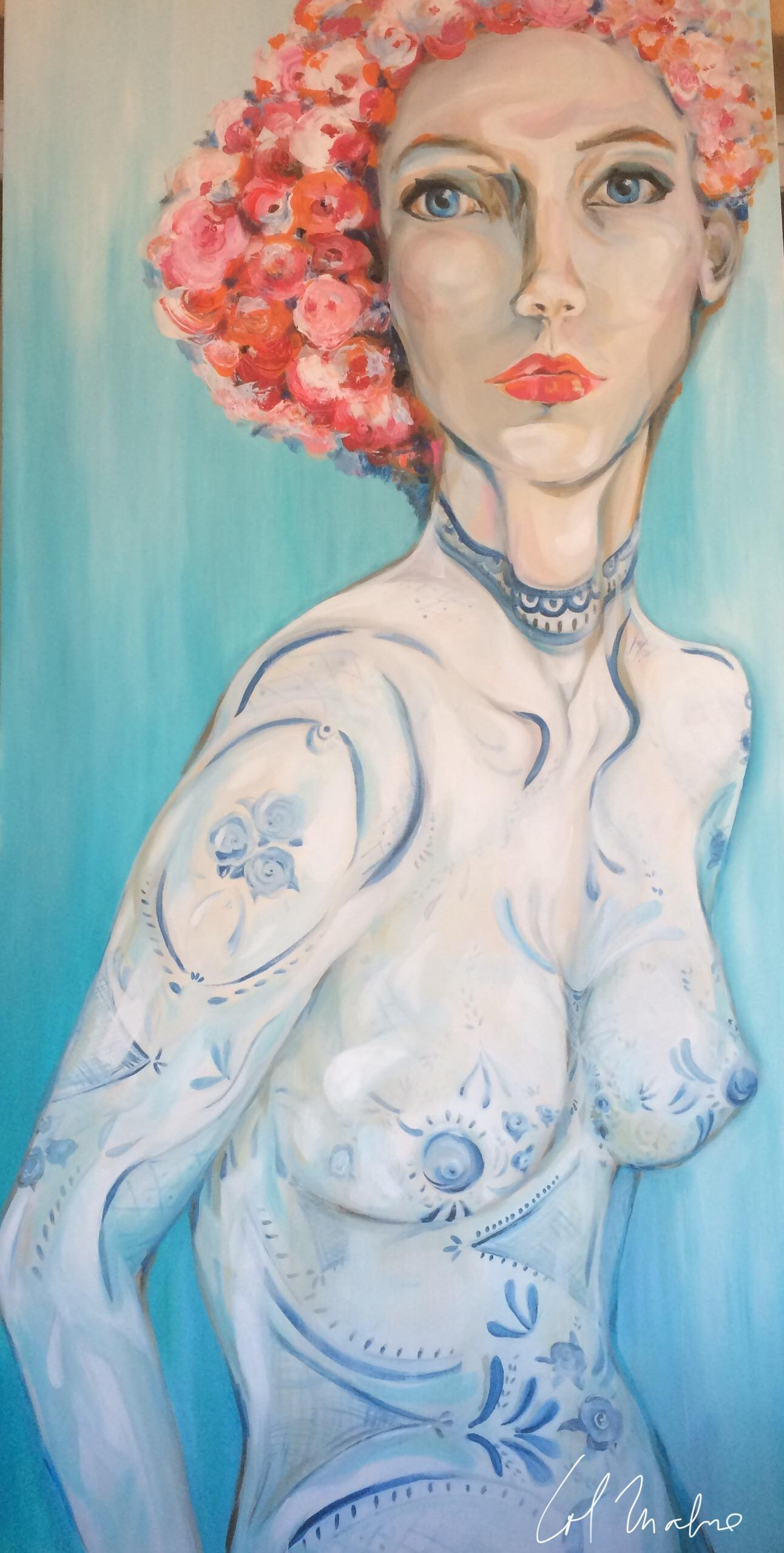 Mujer florero