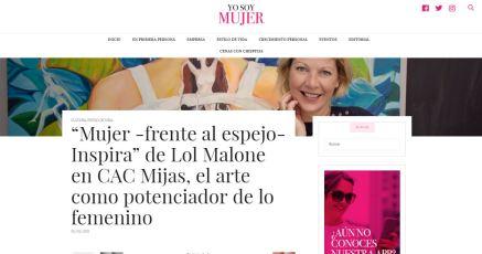 Articulo Revista Yo soy Mujer Exposición de Lol Malone