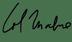 Firma de la artista Lol Malone