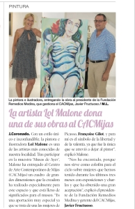 Prensa. Lol Malone. Francoise